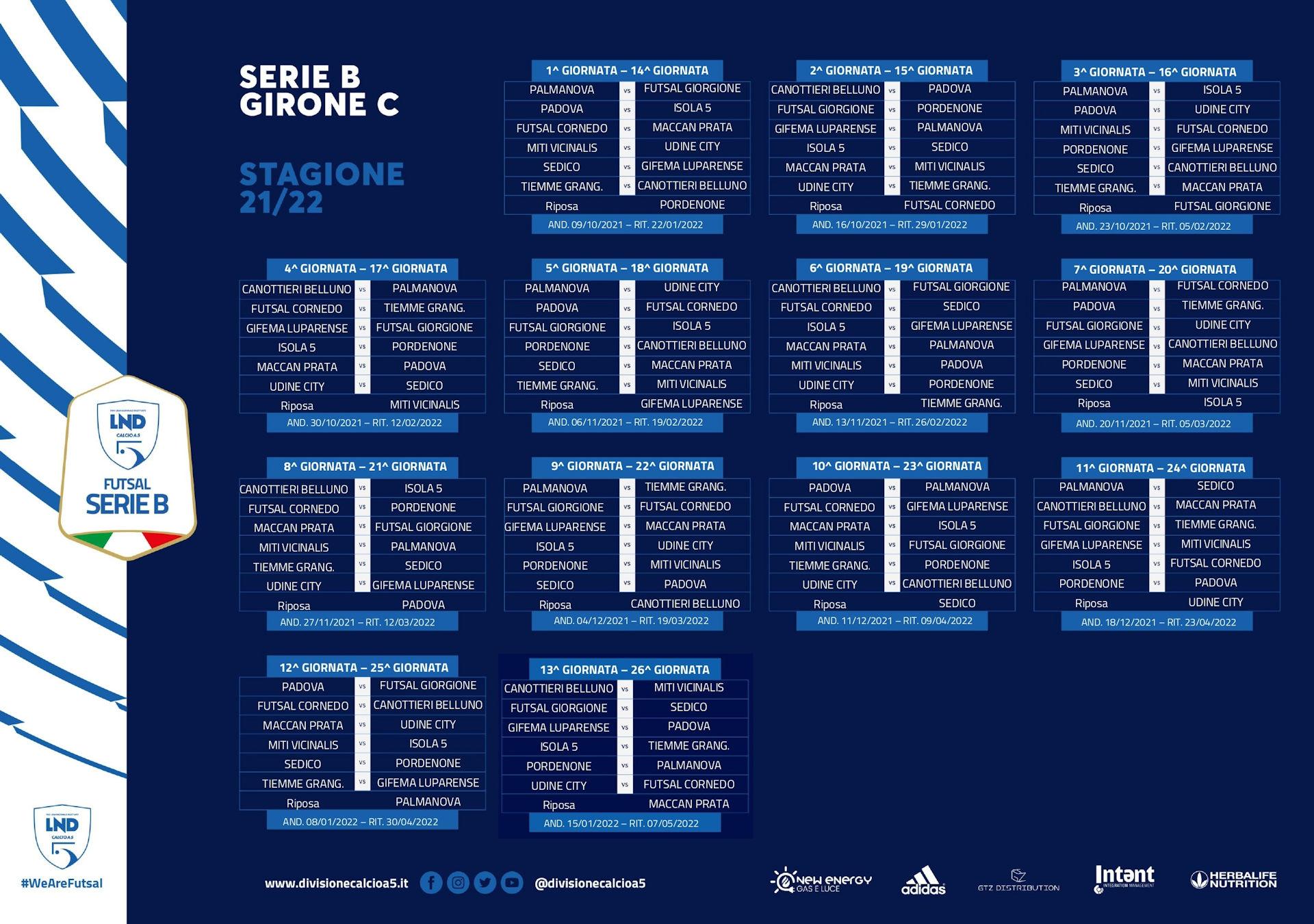 calendario Serie B - Girone C